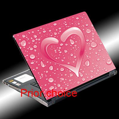NEW PINK HEART NOTEBOOK LAPTOP COVER SKIN STICKER DECAL