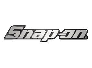 New Snap On Chrome Logo Stickers Decals BLACK SILVER