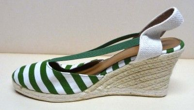 MONTEGO BAY CLUB GREEN YACHT STRIPED CANVAS SLINGS sz10