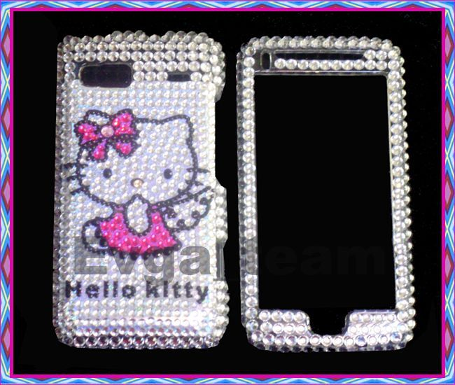 Hello kitty Bling skin Case Cover F HTC T Mobile G2 DSV