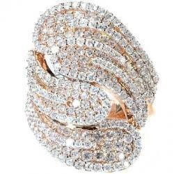 14KT ROSE GOLD DIAMOND WEDDING BAND RING SZ 6.5,6,7,8