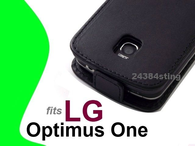 LEATHER FLIP CASE COVER POUCH for LG OPTIMUS ONE P500