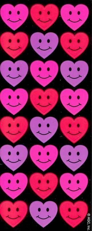 American Greetings Valentines Day Smiley Faces Stickers