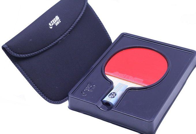 2X DHS Ping Pong Paddle Table Tennis Racket Set 6 Star